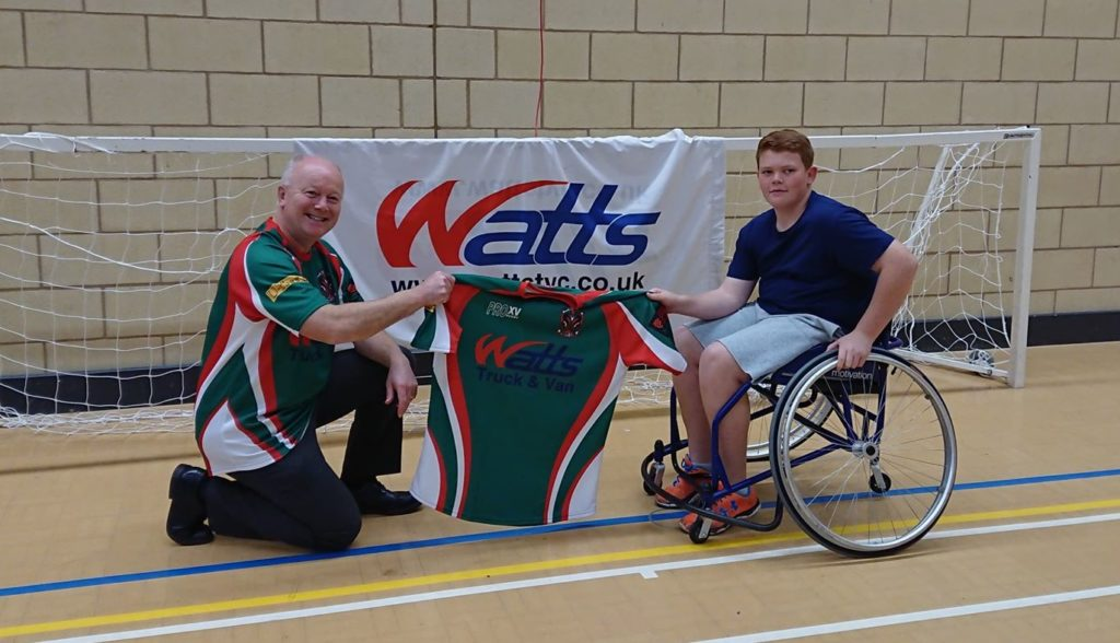 Simon at the South Wales Wheelchair Sports
